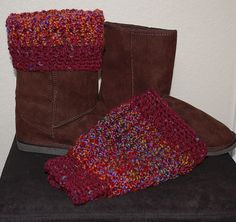 Boot cuff pattern (does NOT look cute in the picture, but my mom made a pair and they are super adorable!)