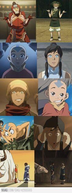 Avatar expressions across lifes! ≈Avatar The Last Airbender≈ ≈Legend of Korra≈