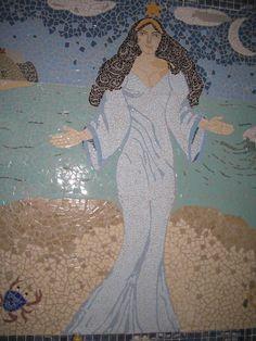 Painel instalado- Mosaico pastilhas de cerâmica