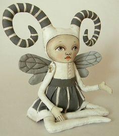 Fairy Monster Original Contemporary Folk Art by CartBeforeTheHorse