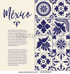 Mexican Traditional Talavera Style Tiles from Puebla; México – Copy Space Floral Composition with Birds Stencil Art, Stencils, Style Tiles, Mexican Flowers, Easter Egg Designs, Mexican Embroidery, Mexico Style, Minion Party, Bullet Journal Themes