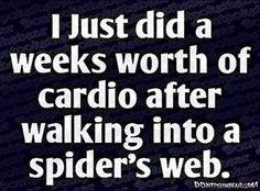weeks worth of cardio