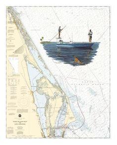 Steve Whitlock Nautical Chart Art - Mosquito Lagoon