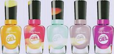 Sally Hansen Mirical Gel nail lacquer. The only true 2-step gel manicure with no light needed; Over 45 shades that wow And it's only from Sally Hansen @ cosmeticdesires.com No UV/LED light needed Easy, soak free removal. #nailpolish #nails #gelnails