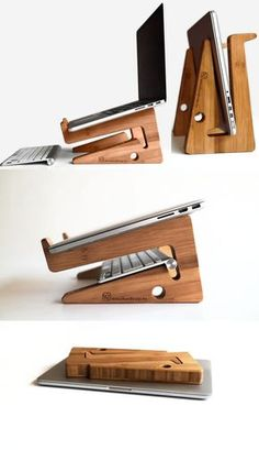 Bamboo Wooden Laptop Macbook Cooling Stand Holder Riser Dock Laptop Desk Desktop… Bamboo Wooden Laptop Macbook Cooling Stand Holder Riser Dock Laptop Desk Desktop Stand Holder Mount Cradle for Laptop Notebook Tablets iPad Macbook Air or Pro