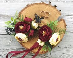 Floral hair comb Bridal hairpiece Bridesmaid corsage Prom corsages beach Bridesmaid hair comb Wedding floral hair comb Burgundy flower comb Do you want to feel the warm from floral hair comb that made by hands? Handmade wedding hair barrette and prom corsages never compare to the