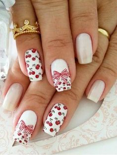 Have you always been in awe of bow nail art designs? When you look at bows on the nails it gives you the feeling of being cute and girly. Of course there are al Nail Art Designs 2016, Cute Nail Art Designs, White Nail Designs, Beautiful Nail Designs, Bow Nail Art, Matte Nail Art, Great Nails, Cute Nails, Ongles Roses Clairs
