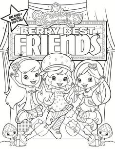 Strawberry Shortcake Printable Coloring Pages Best Of Free Printable Strawberry Shortcake Coloring Page Cupcake Coloring Pages, Coloring Pages For Girls, Cute Coloring Pages, Cartoon Coloring Pages, Coloring Pages To Print, Coloring For Kids, Free Coloring, Coloring Books, Strawberry Shortcake Coloring Pages