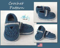 Patrón de patucos de bebé de ganchillo Crochet por LovelyBabyGift