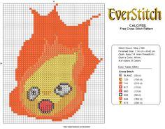 Calcifer Free Cross Stitch Design by EverStitch.deviantart.com on @deviantART