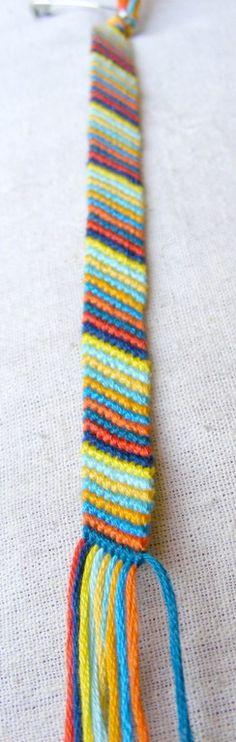 Striped knotted bracelet
