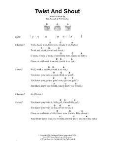 Twist And Shout by The Beatles - Guitar Chords/Lyrics - Guitar Instructor