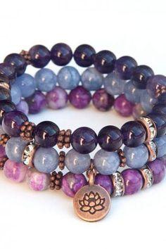 Genuine Amethyst Gemstone Beaded Bracelet Amethyst Chip Bracelet Gift For Mom Purple Bracelet Rose Bracelet Natural Amethyst Bracelet
