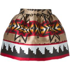 Dsquared2 Aztec print mini skirt (£595) ❤ liked on Polyvore featuring skirts, mini skirts, falda, black, black skirt, high waisted short skirts, aztec mini skirt, mini skirt and short skirts