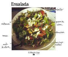http://elblogdelupi.com/food/ensalada-verde-con-membrillo-y-queso-de-cabra #recetas #ensaladas