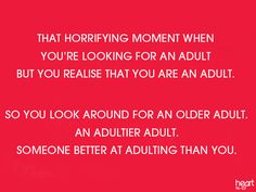 I need an adult, I need an adult!!!