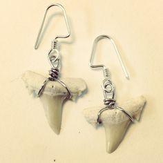 Shark Teeth Earrings at www.moonmetaljewelry.com $24