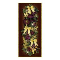 """Bildkarte """"Victorian Christmas"""" Vers01, weihnachtliches Motiv, geschmückte Weihnachtsgirlande, als Gruß- oder Einladungskarte. Grafik und Entwurf bei ArianneGrafX©2012"""