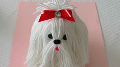 How to make a yarn/wool dog. Shih Tzu How to make a yarn/wool dog. Arts And Crafts For Teens, Art And Craft Videos, Easy Arts And Crafts, Crafts For Kids, Pom Pom Crafts, Yarn Crafts, Diy Crafts, Crafts With Wool, Fairy Mermaid