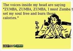 crack me up, but awesome zumba is awesome.