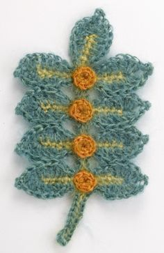 Crocheted Leaves & Berries.