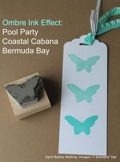 Undefined_ombre butterfly carved by April Waltrip Stampin' Up