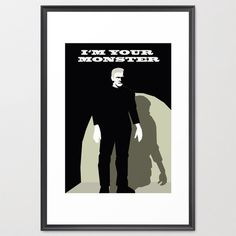 Frankenstein poster-Monster print-Cinema lover wall art-Black and white Cool gothic print-Decorative Art Print-Large Print-Glicee Print by TheRedUmbrellaShop on Etsy https://www.etsy.com/listing/220519226/frankenstein-poster-monster-print-cinema