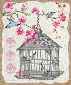 I uploaded new artwork to plout-gallery.artistwebsites.com! - 'Birdcage With Cherry Blossoms-jp2611' - http://plout-gallery.artistwebsites.com/featured/birdcage-with-cherry-blossoms-jp2611-jean-plout.html
