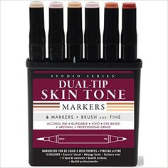 Studio Series Professional Alcohol Markers - Skin Tones - 6 Pack: Peter Pauper Press: 9781441322005: Amazon.com: Books