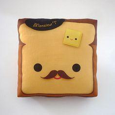 Monsieur Toast Pillow  My life needs Monsieur Toast