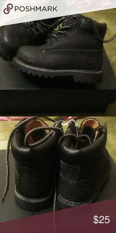 4056b53093743 Timberlands Boots Black on Black Timberlands Super Cute Like New Timberland  Shoes Boots