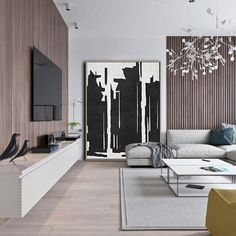 Vertical Abstract Painting MN307B, hand painted painting on canvas, black, white, grey minimal painting. By Celine Ziang Art ( CZ Art Design)