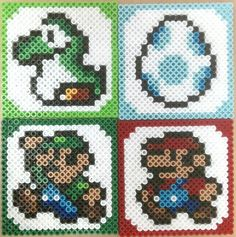 Mario Perler Coasters by Nik Persram, via Flickr. Totally want to make these! Looks easy enough  Could also be a good cross stitch pattern.
