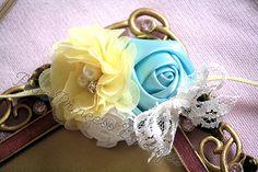 Sunny Day} Headband, Photography Prop, Baby Headband, Spring Headband, Summer Headband, Flower Headband, Couture Headband