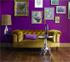 De mooie paarse Benjamin Moore kleur Mystical Grape Natuurlijk ook te maken door Schmidt Koelewijn
