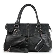 Snake Skin Messenger Bag with Cell Phone Pocket and Adjustable Strap- Black $39.50 www.amazon.com/shops/DnKFashion
