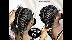 How To Cornrow For BEGINNERS / NEW METHOD