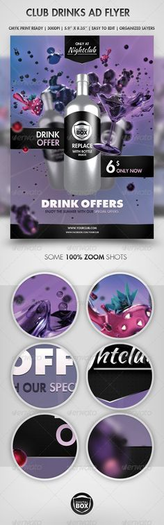 Club Drinks Advertisement Flyer - Clubs & Parties Events