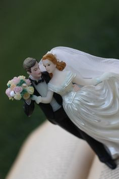 Vintage wedding cake topper 1990s anniversary or by decymullens, $39.99