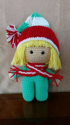 CROCHET - BIG HEAD DOLL - BABYDOLL YO-YO - Big Head Baby Doll Elf by TreasuresByRonni on Etsy