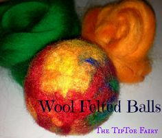 How to Make Wool Felted Balls - Pincushions from The TipToe Fairy