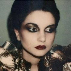 1980s traditional goth makeup