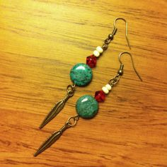DIY boho earrings / tribal earrings / Native American earrings
