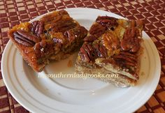 I think these might be part of my picnic goodies this weekend -  Pecan-Pie-Bars