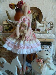 Куклы Тильды ручной работы. Ярмарка Мастеров - ручная работа. Купить Кукла Тильда в стиле шебби шик. Handmade.