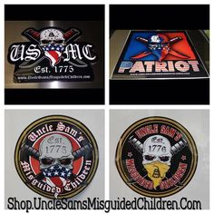 Get Your Decals They will be shipped the following day! We have 2.5x2.5 or a 5x to choose from. 👉 http://shop.unclesamsmisguidedchildren.com/collections/accessories …