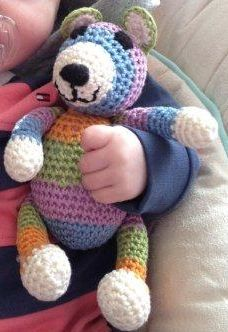 Cara's crochet bear