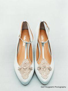 comfortable wedding shoe low heel vintage inspired crystal embellished silk satin kitten something blue