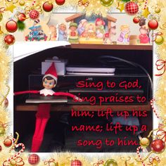 "Psalm 68:4 says, ""Sing to God, sing praises to his name; lift up a song to him who rides through the deserts; his name is the Lord; exult before him!"" Listen to Christmas songs!"