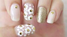 Sweet Spring Daisy Nail Art Design Tutorial